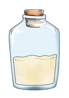 bottle with sand by uniquorned