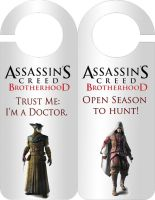Doctor and Hunter Door Hanger by LuciRamms