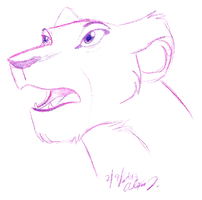 shocked Nala doodle by Stray-Sketches