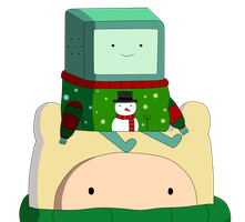 Finn and Bmo- Holly Jolly Secrets by AndiScissorhands