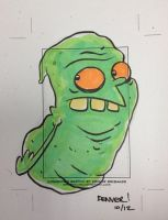 SLIMER sketchcard by thecheckeredman