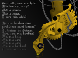 Cara Mia: A Steampunk GLaDOS by squirrelbait