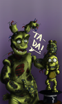 The Amazing Springtrap! by GIRLYGAMER1998