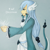 PKMN Gijinka - Dragonair by brioche-of-destiny