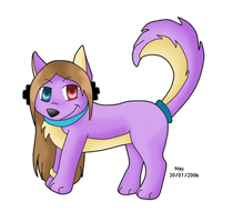 Art trade with DymonttheWolf9 by Nay-Hime