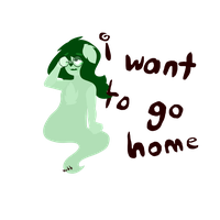 i want to go home (now available as a shirt!) by woogieboboogie