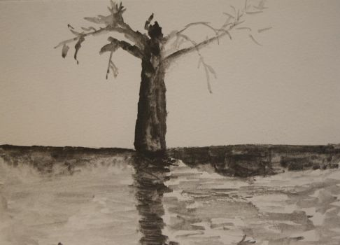 tree sketch, practice... by pipaspases