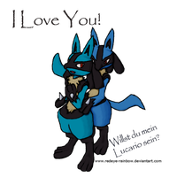 You Want To Be My Lucario? by Redeye-Rainbow