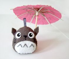 Totoro with paper umbrella by yael360