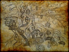 Hobbit Treehouse by fosspathei