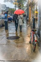 on a street in Montreal by Rikitza