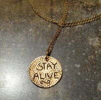 Hunger games Pendant Back by Peaceofshine