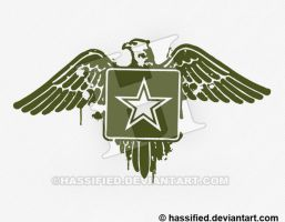 Stenciled Army Eagle by hassified