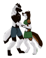 Anthro Sol and Will by wolfyrose623