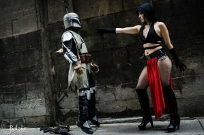 Lady Sith Force Choke a Mandalorian by Moscou