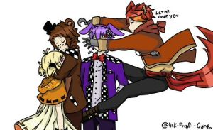 Draw your ocs like this - FNAF by Momoe003