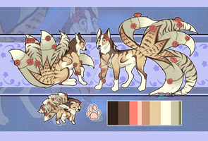 Spring kitsune//Auction// CLOSED by Belliko-art