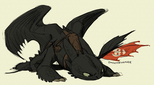 Toothless Investigating by JackTheVulture