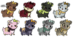 Dog Adoptables by anouki-morgenstern