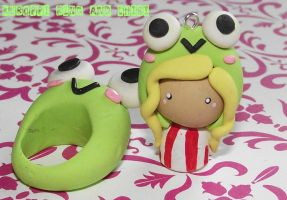 Clay Keroppi Chibi by funkypinkgal