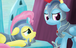Jousting - Fluttershy and Rainbow Dash by SymbianL