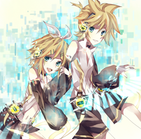 Rin Len append by uly-rainy