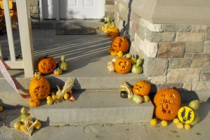 My Trick-or-Treating Porch by Dani-the-Naiad