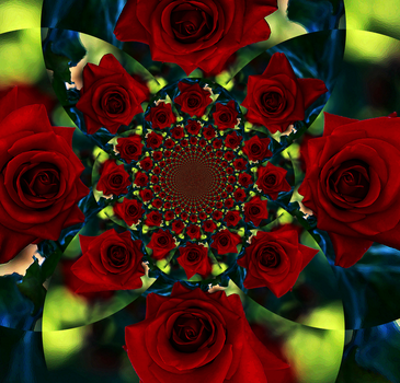 Red Rose Fracal Art by dlitefulimagez