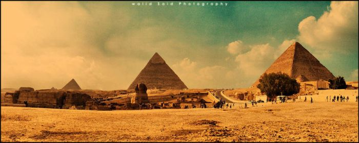 Panorama View of Pyramids area by wella007