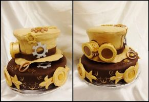 Steampunk Cake by Stephanefalies