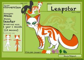 (TcotV) .: Leapstar ref sheet NEW :. by TheClansOf-TheValley
