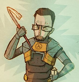 Gordon Freeman by peerro