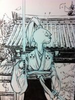 Usagi Yojimbo Closeup by BChing