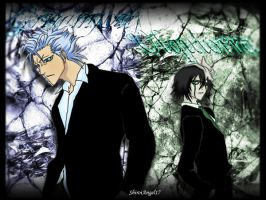 Grimmjow and Ulquiorra wally by ShiroiAngel17