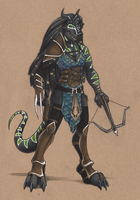 Dragonborn Hunter by Lizzie-Bean