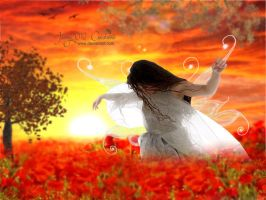 Dancing in the middle of Poppies by Jassy2012