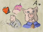 Anthro Challenge ~ National Pig Day by Pegarissimo