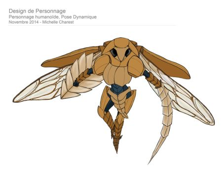 Humanoid Character Design - Dynamic Pose Updated by Thalvanna-Art