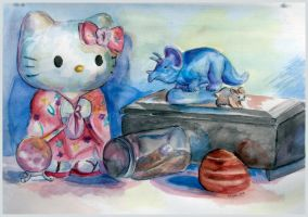 Hello Kitty Still Life by AngelicRoyalty