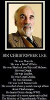 Sir Christopher Lee by Turbofurby