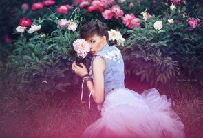 Nadya in Peonies by RavenaJuly