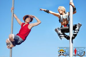 LUFFY X VAAN LOVE FOREVER by beethy