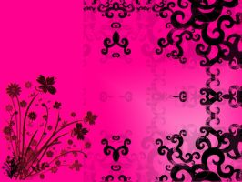 pink and black wallpaper by haruhi15