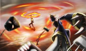 Ghost Rider vs Hsien-Ko by kuroi-kenshi