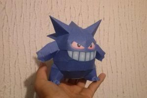 Gengar doll papercraft by aardonix