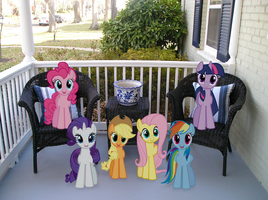 Mane 6 on a Porch by Bryal