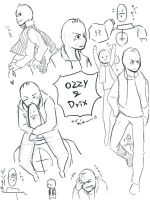 ozzy and drix doodles by mst-cl