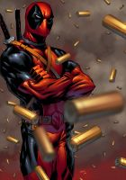 Commission:  Deadpool by K-Bol