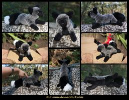 SOLD Plushie: Merla the Silver Fox by Avanii
