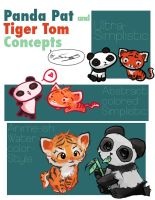 Tiger Tom and Panda Pam by Sapphire4723